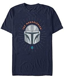 Men's Mandalorian Simple Helmet Logo T-shirt
