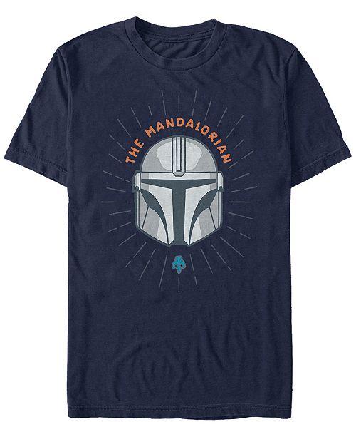Star Wars Men's Mandalorian Simple Helmet Logo T-shirt