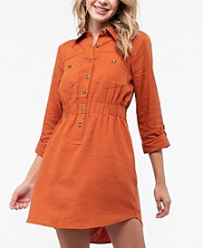 Button-Front Shirt Dress