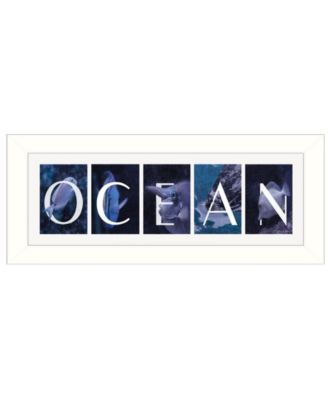 """Ocean By Robin-Lee Vieira, Printed Wall Art, Ready to hang, White Frame, 20"""" x 8"""""""