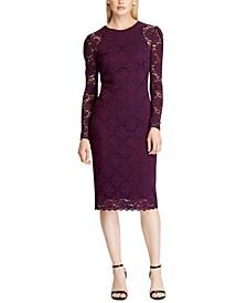 Floral Lace Stretch Dress