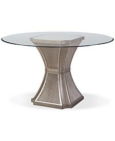 "Vanesta 54"" Glass Top Round Dining Table"