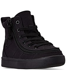 BILLY Toddler Boys Black to the Floor Classic Lace High Top Casual Sneakers from Finish Line