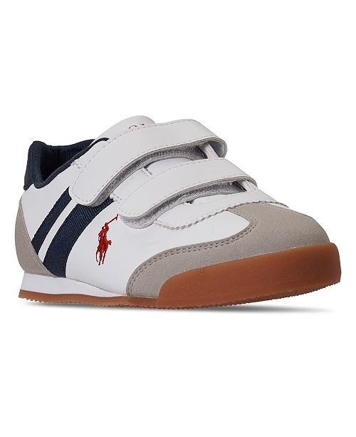 Polo Ralph Lauren Ralph Lauren Polo Little Boys Emmons EZ Stay-Put Slip-On Casual Sneakers from Finish Line