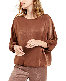 Alfani Satin Dolman-Sleeve Bubble Top, Created for Macy's