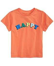 Baby Boys Happy-Print Cotton T-Shirt, Created For Macy's
