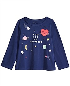 Toddler Girls Cotton Long-Sleeve Universe T-Shirt, Created For Macy's