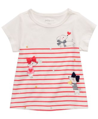 First Impressions Baby Boys Long-Sleeve Graphic-Print T-Shirt Angel White 24 Months