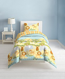 Safari Animals 3-Piece Full/Queen Comforter Set