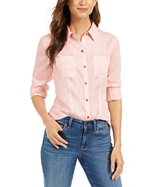 Petite Patch-Pocket Shirt, Created For Macy's