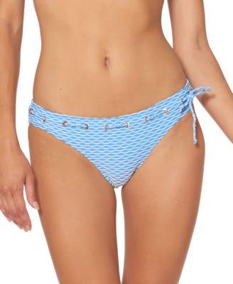 Twiggy Stripe Textured Hipster Bottoms