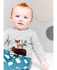 Baby Boys 2-Pc. Cotton Woodland Creatures Bodysuit & Jogger Pants Set