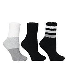 Women's 3 Pack Colorblock & Stripe Cozy Socks, Online Only