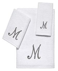 White Script Monogram 3-Pc. Towel Set