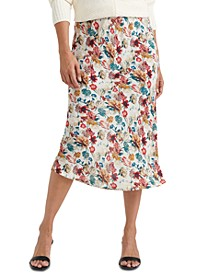 Willa Floral-Print Pull-On Skirt
