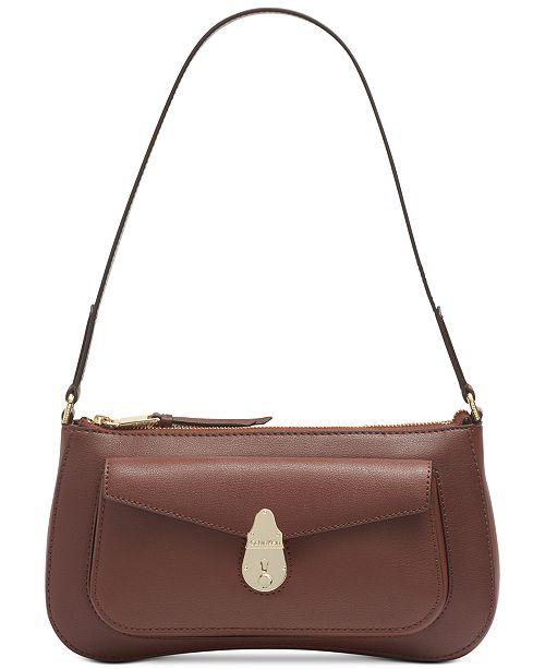 Calvin Klein Lock Leather  Demi Shoulder Bag