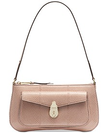Lock Leather Demi Shoulder Bag