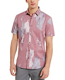 I.N.C. Men's Regular-Fit Abstract Watercolor-Print Shirt, Created For Macy's