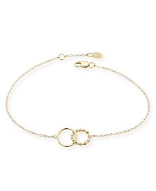 Interlocking Adjustable Bracelet Set in 14k Yellow Gold