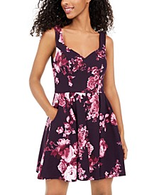 Juniors' Sweetheart Scuba Dress