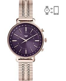 Women's Cameron Rose Gold-Tone Stainless Steel Mesh Bracelet Hybrid Smart Watch 36mm