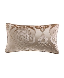 "Cut Velvet Fretwork Patterned Accent Pillow 11"" x 20"""