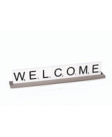 Welcome Scrabble Letter Tile Wooden Sign