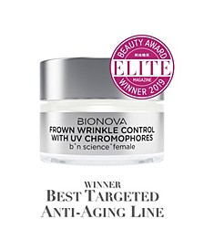 Frown Wrinkle Control with UV Chromophores