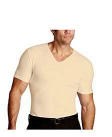 Men's Big & Tall Insta Slim Compression Short Sleeve V-Neck T-Shirt