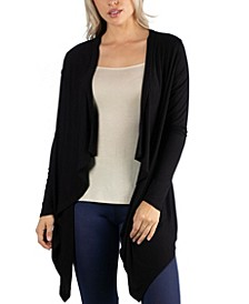 Classic Black Long Sleeve Open Cardigan