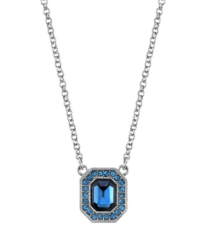 Crystal Enamel Octagon Necklace