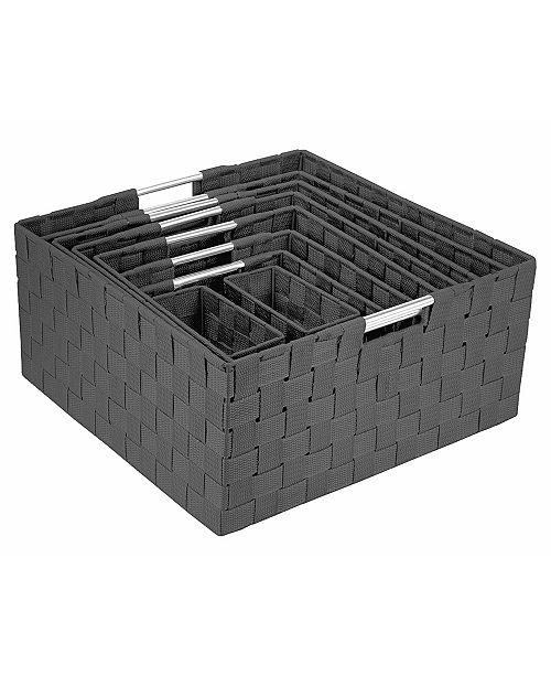 Sorbus Weave 9 Piece Basket Set