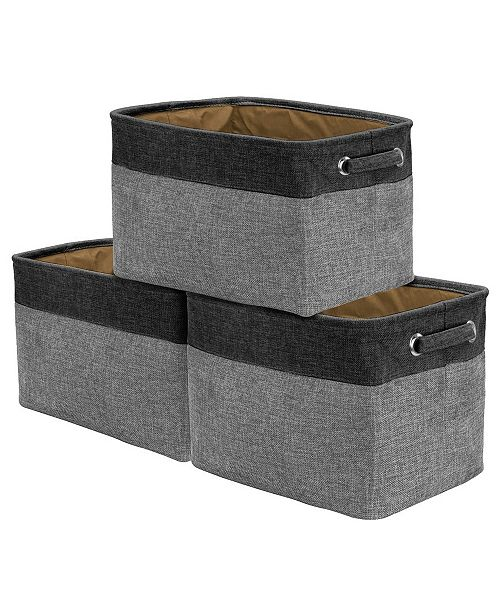 Sorbus Twill Storage Basket, Set of 3