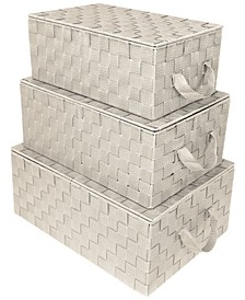 Woven Storage 3 Piece Basket Set