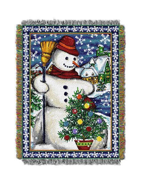 Northwest Company Snowman Village Tapestry Throw