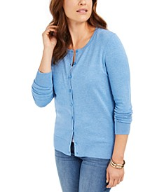 Petite Crewneck Cardigan, Created for Macy's