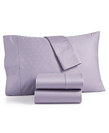Bergen House Woven Diamond Dot 4-Pc. California King Sheet Set, 1000-Thread Count 100% Certified Egyptian Cotton