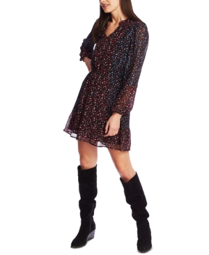1.state Dresses FLORAL-PRINT PEASANT DRESS