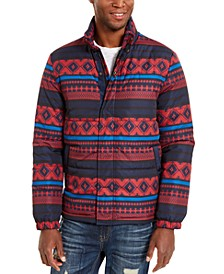 Men's Geometric Puffer Jacket, Created For Macy's