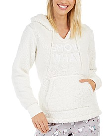 Women's Faux Sherpa Cozy Hoodie, Created For Macy's