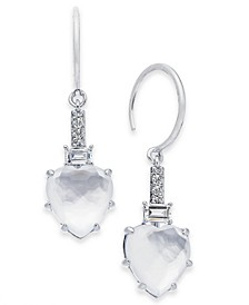 Stone Heart Drop Earrings, Created For Macy's