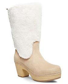 Sanza Faux-Fur Clog Boots