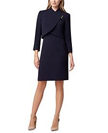 Wrap-Jacket Dress Suit