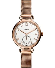 Women's Josey Rose Gold-Tone Stainless Steel Mesh Bracelet Watch 34mm