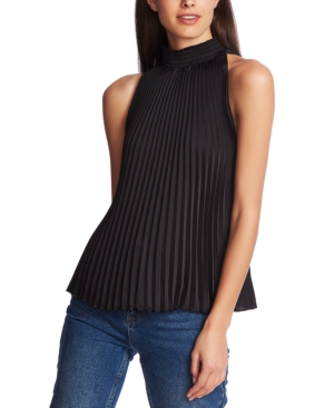 1.state Tops PLEATED HALTER-NECK BLOUSE