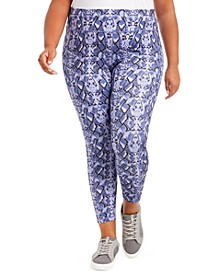Plus Size Printed Pull-On Leggings, Created For Macy's