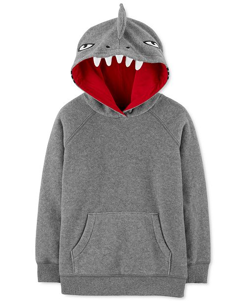 Carter's Little & Big Boys Fleece Shark Hoodie