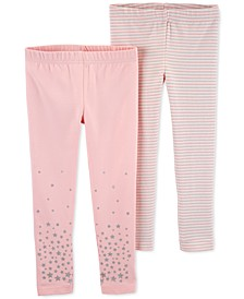 Toddler Girls 2-Pk. Stars & Striped Leggings