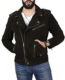 Men's Suede Biker Jacket