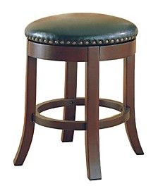"Kodiak 24"" Swivel Counter Stools with Upholstered Seat, Set of 2"